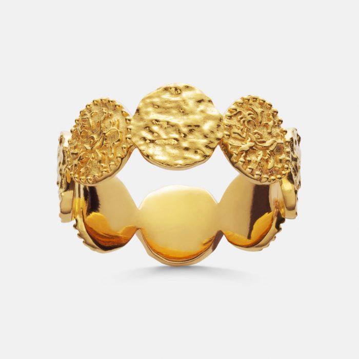 Amida Ring vergoldet von Mannest