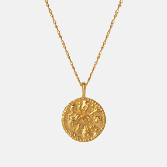 Renina Halskette in gold von Maanesten