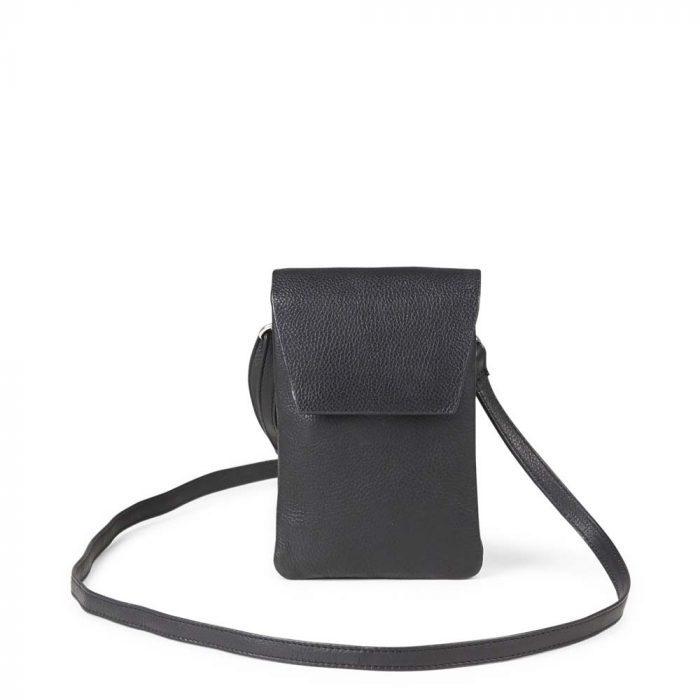 Schwarze Umhängetasche Mara aus Leder von Markberg