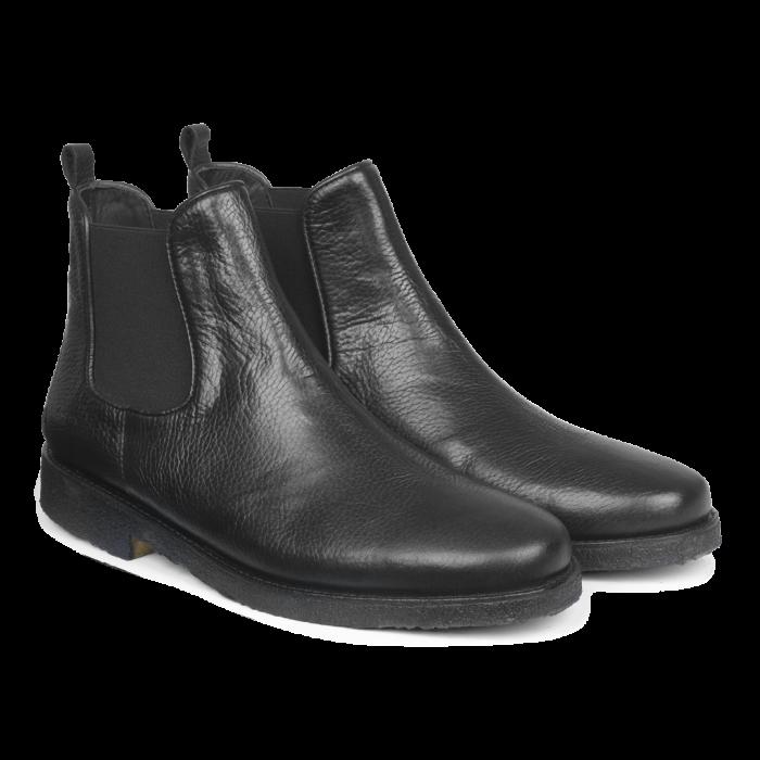schwarze Herrenstiefel aus 100% Leder von der dänischen Marke Angulus