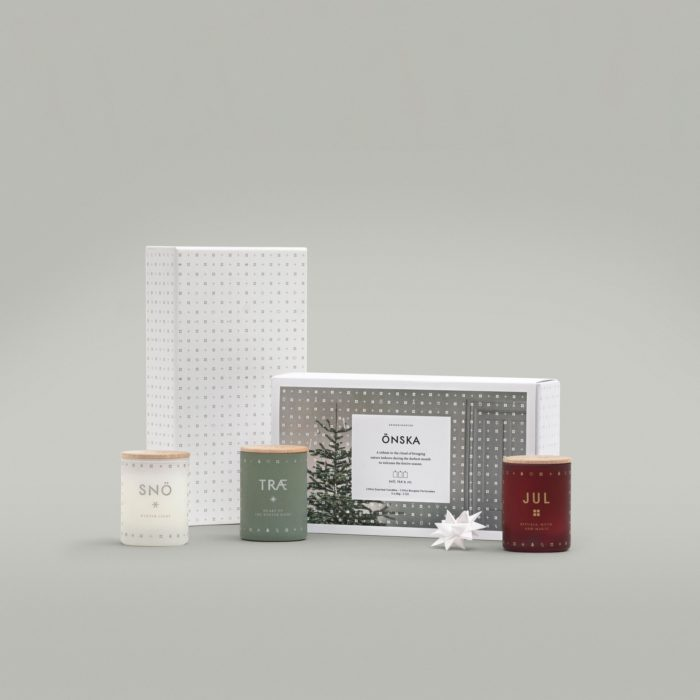 ÖNSKA Mini Duftkerzen Geschenkset aus 3 Minikerzen von Skandinavisk