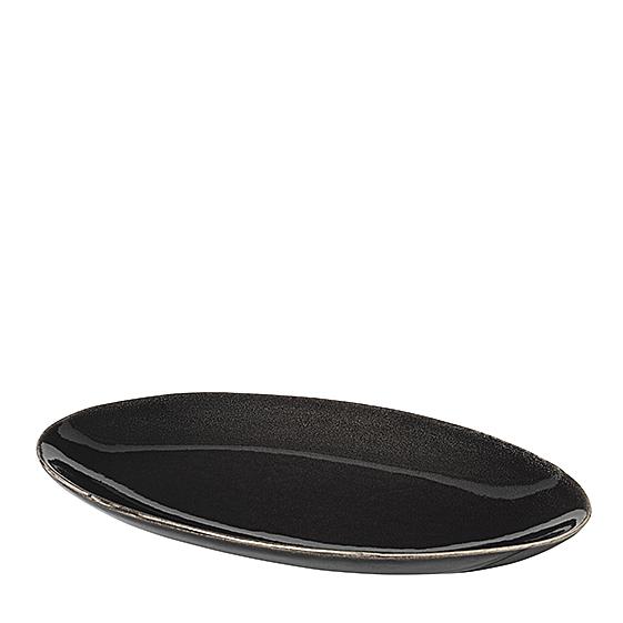 Platte Oval Nordic Coal von Broste Copenhagen