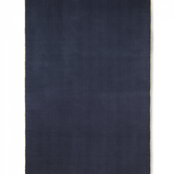 Herringbone Decke Dark Blue von ferm Living aus einem Wollgemisch