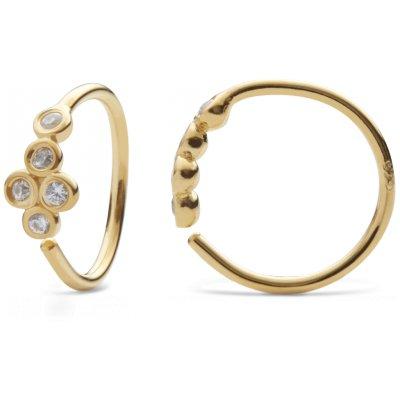 Andie Ohrringe vergoldet weiße Edelsteine von Magneten