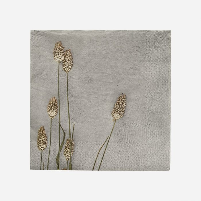 Servietten Grass Light Grey