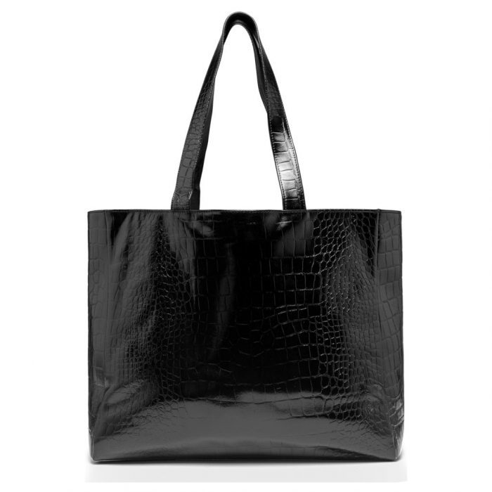 Shopper Nero Croco von Depeche.