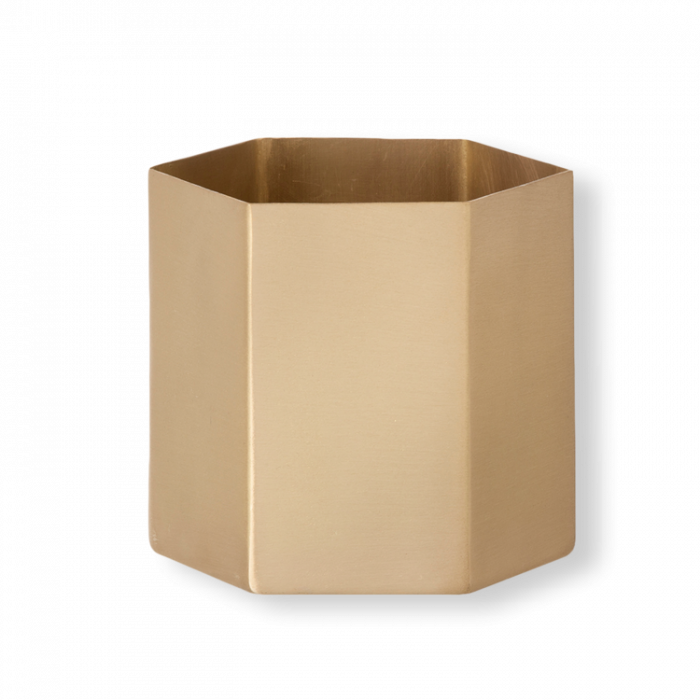 Hexagon Topf Large - Brass von ferm Living