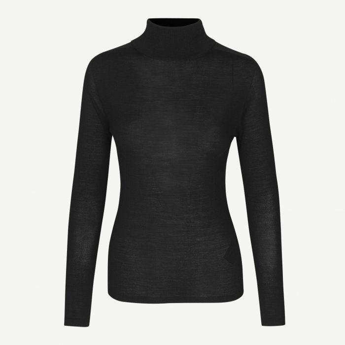 Jennifer Rollkragen-Pullover Black von Samsoe&Samsoe