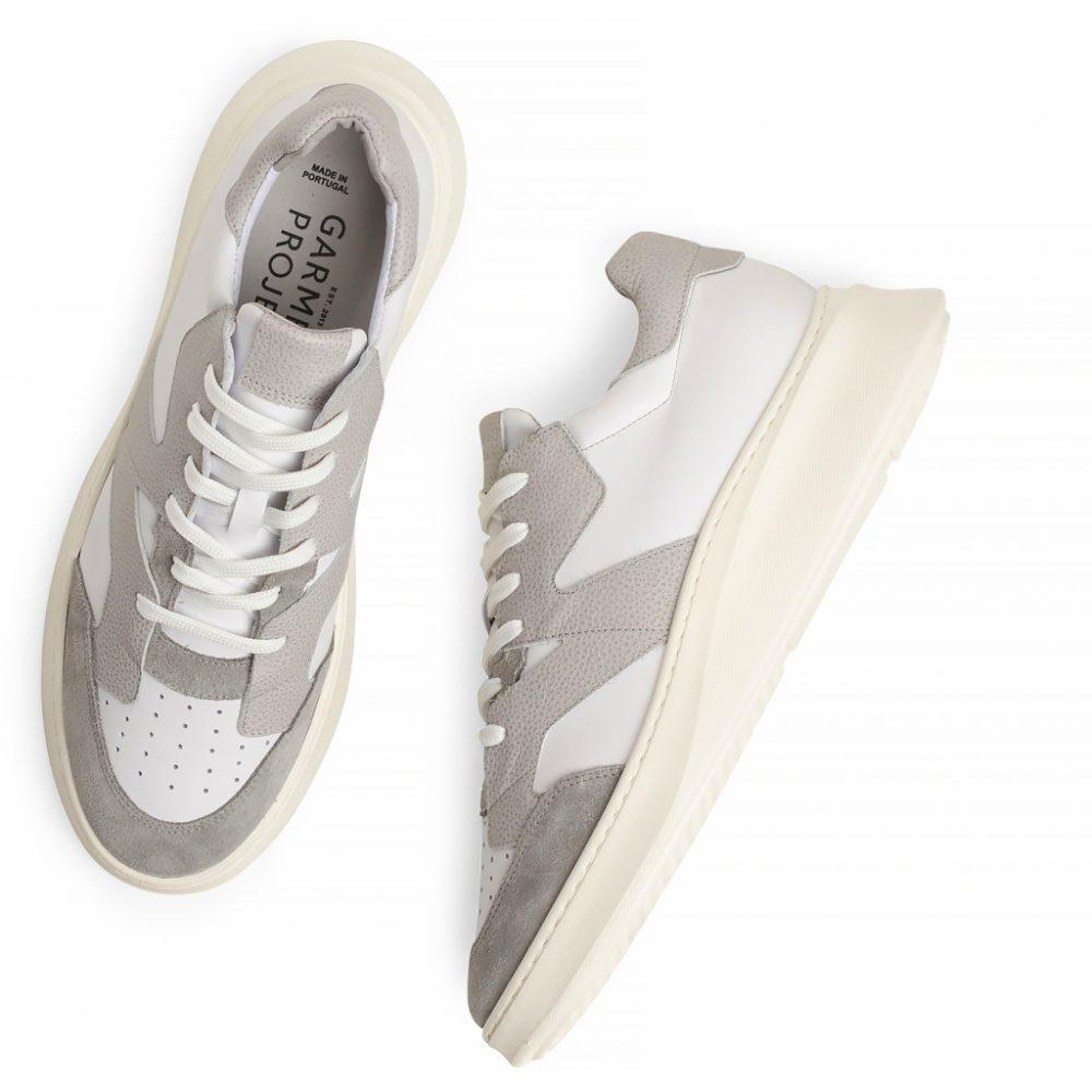 Sneaker Manhattan - White/Grey Leather