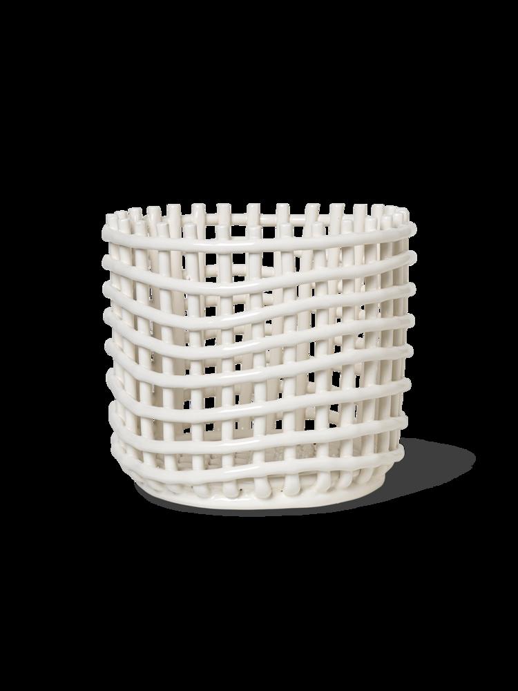 Keramikkorb L - Off White von ferm Living