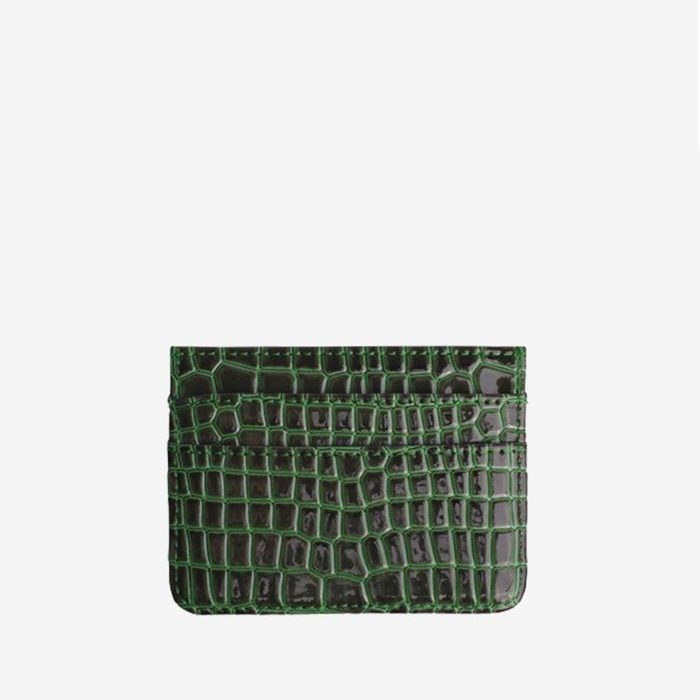 Croco Kartenhalter - Jungle Green von Hvisk