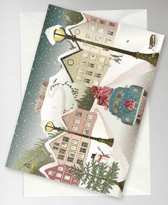 """Grußkarte """"Let It Snow"""" von Vissevasse"""