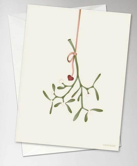 "Grußkarte ""Misteltoe"" von Visse Vasse"