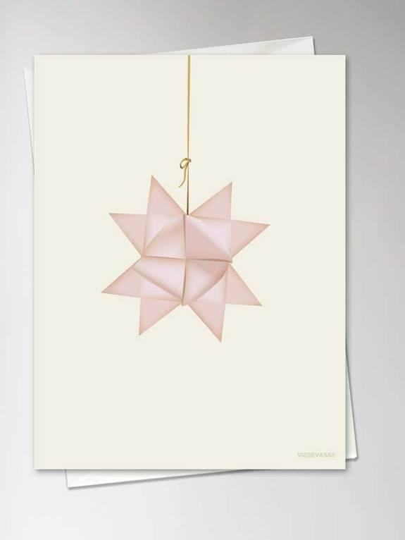 """Grußkarte """"Pink Star"""" von Vissevasse"""