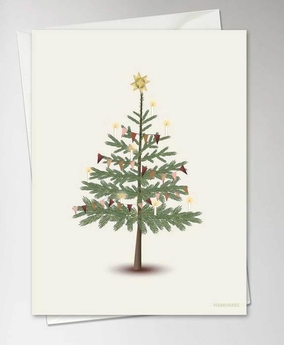 "Grußkarte ""The Christmas Tree"" von Vissevasse"