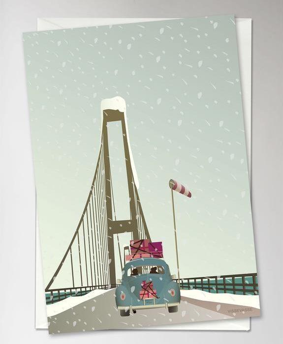 "Grußkarte ""Driving Home for Christmas"" von Vissevasse"