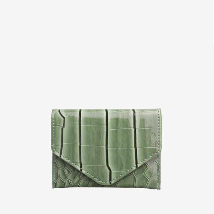 Croco Geldbörse - Dusty Green von Hvisk