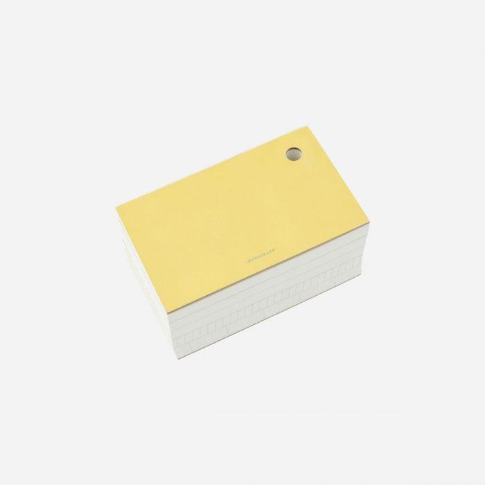 Notizblock - Yellow von Monograph