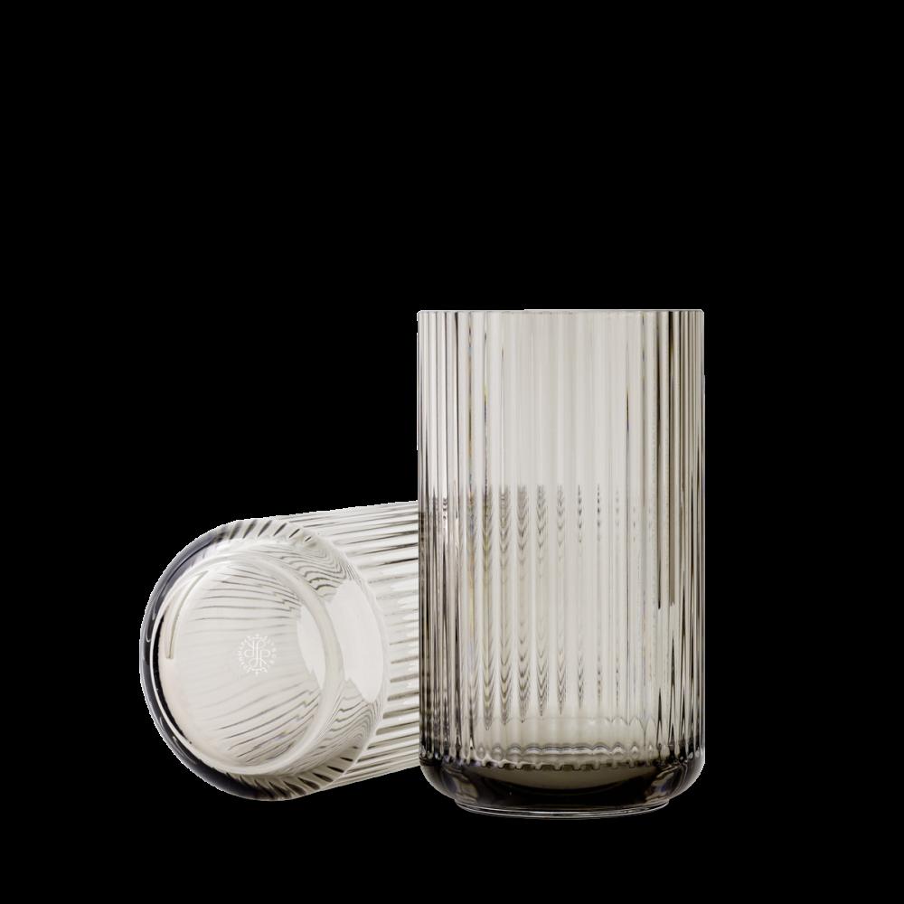 Lyngby Vase Glas H25 - Smoke von Lyngby