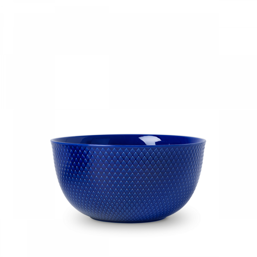 Rhombe Color Schüssel - Dunkelblau von Lyngby