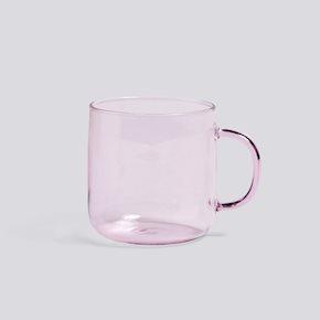 Borosilicate Tasse - Pink von Hay