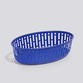 Panier Metallkorb Oval - Bright Blue von Hay