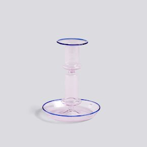 Flare Kerzenständer - Pink/Blue von Hay