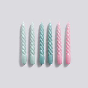 Twist Kerzen - Arctic Blue/Teal/Pink von Hay