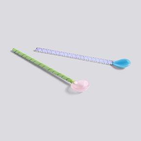 Twist Glaslöffel - Turquoise/Light Pink - 2 Stk. von Hay