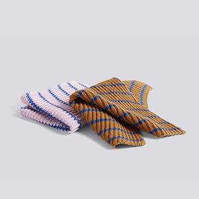 HAY Spültuch - Stripe/Blue/Brown/Pink von Hay