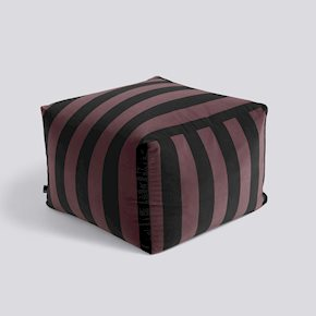 Soft Stripe Hocker - Burgundy von Hay