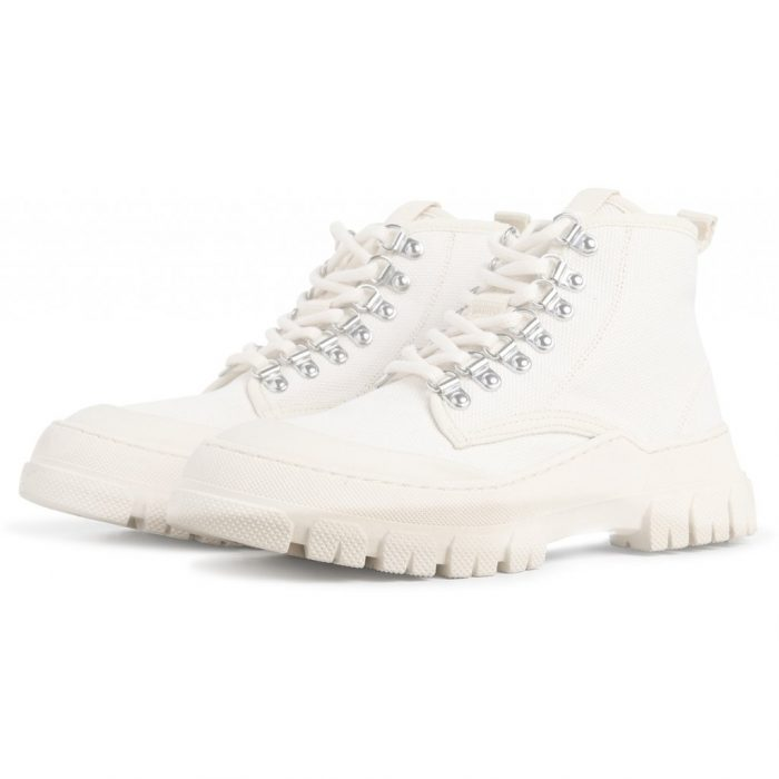 Twig High Schnürstiefeletten - Off White von Gament Project