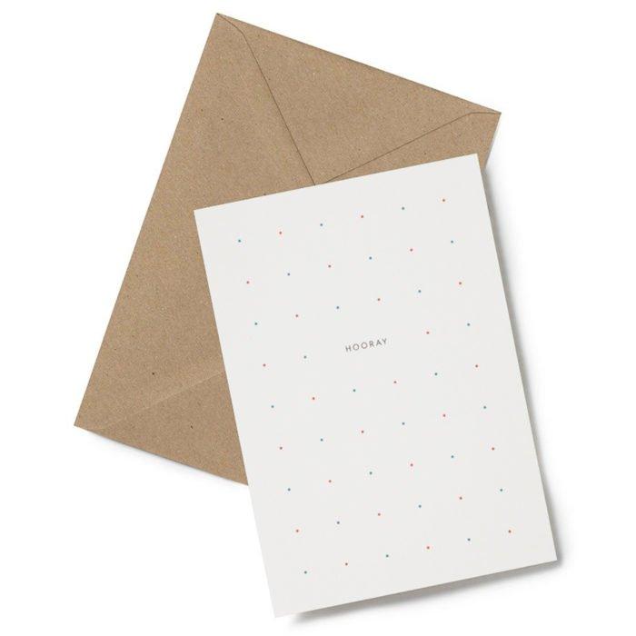 Grußkarte Hooray Dots