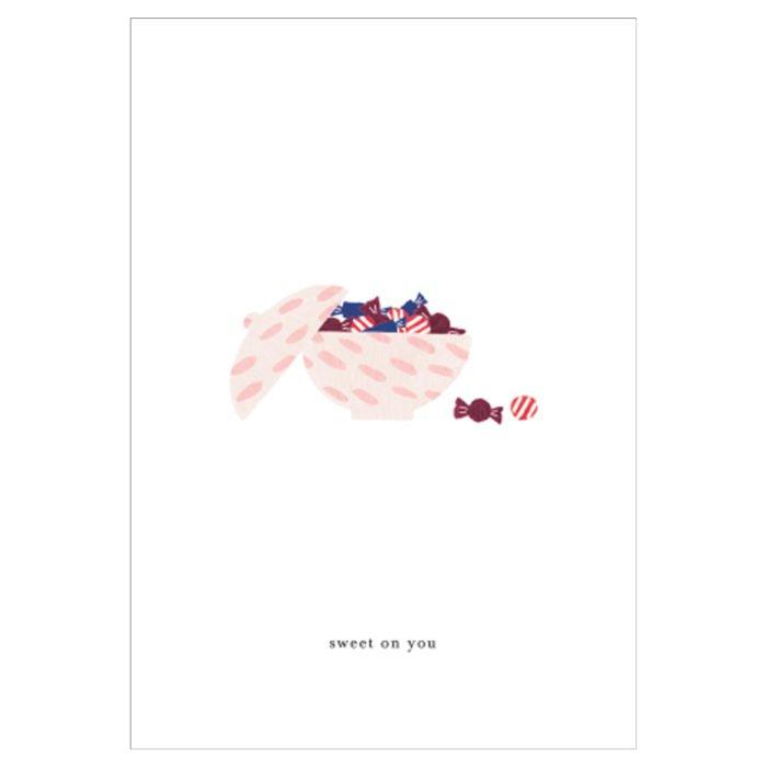 Grußkarte Candy Bowl