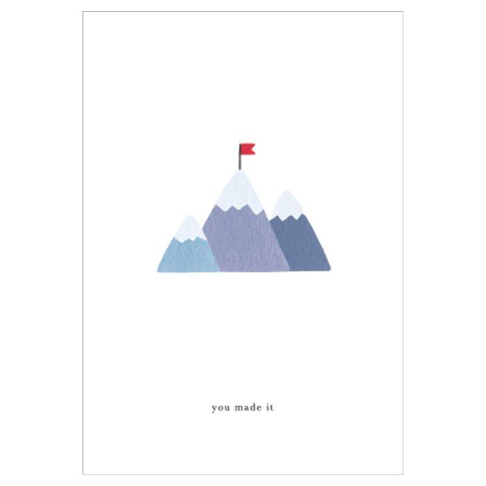 Grußkarte Mountain Top