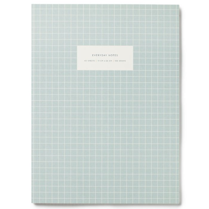 Notebook Large Check Light
