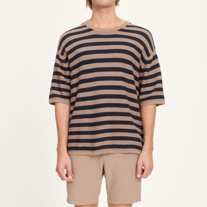 Leon T-Shirt Caribou Stripe