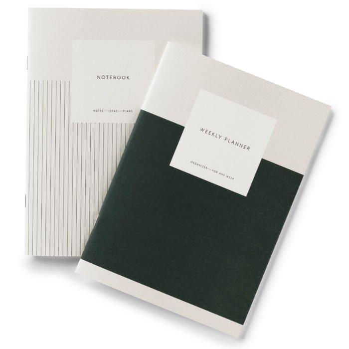 Notebook-Set Wochenplaner Dark Green