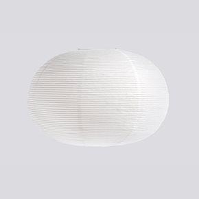 Rice Papierlampenschirm Ellipse Classic White