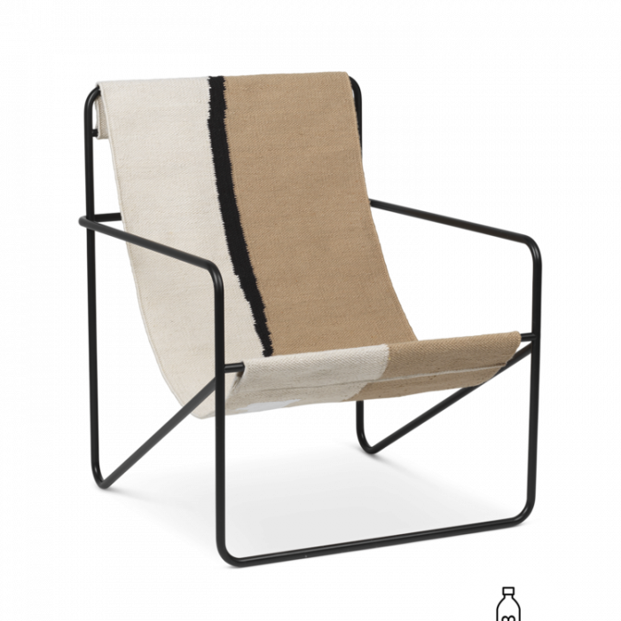 Desert Lounge Chair Black/ Soil