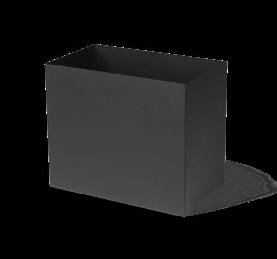 Plant Box Blumentopf schwarz Large