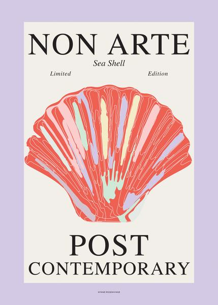 "Non Arte Poster ""Sea Shell - Red Shell"""