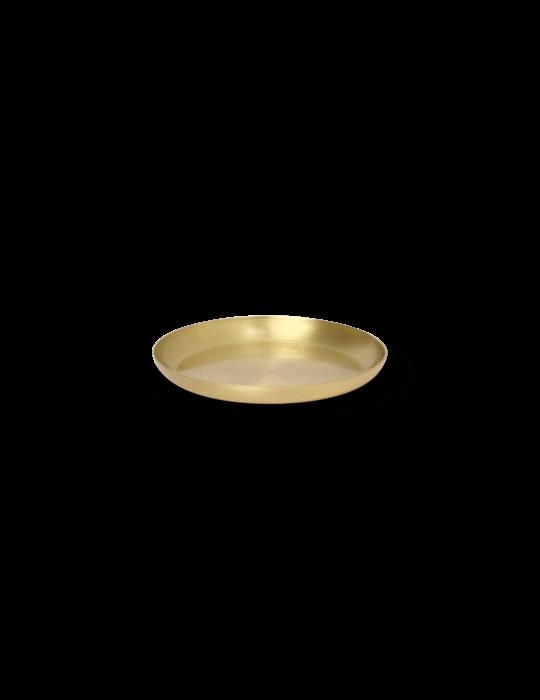 Basho Tablett Round Brass