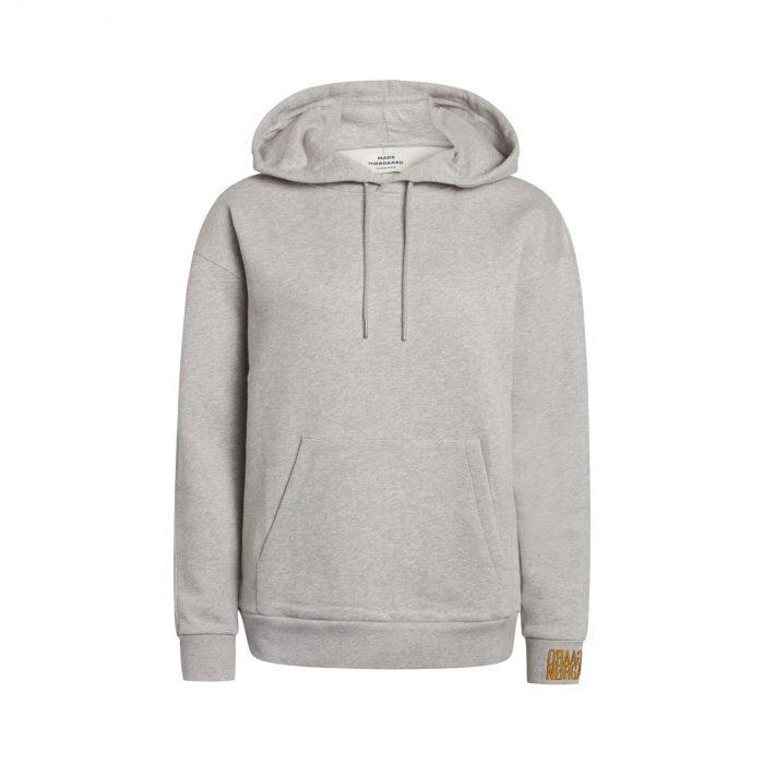 Organic Hoodie Medium Grey Melange