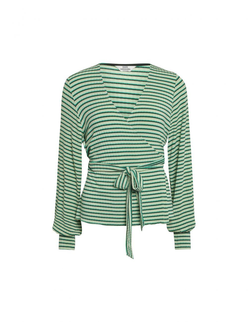 Organic Stripe Shirt White/Black