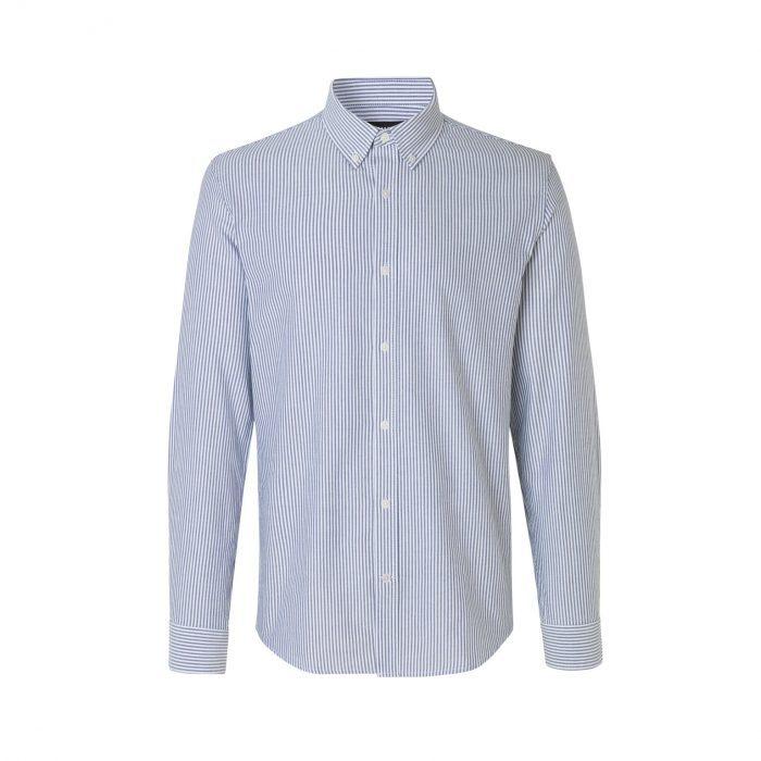 Striped Oxford Hemd Blue Stripe