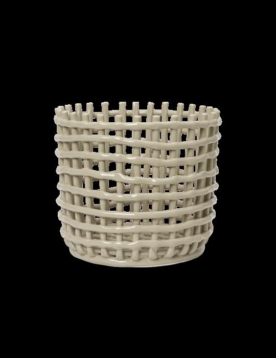 Keramikkorb L Cashmere