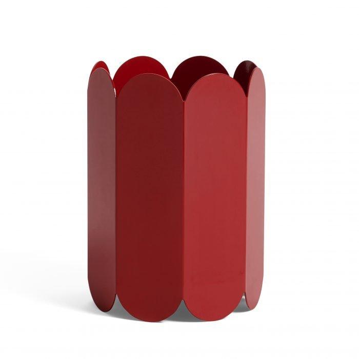 Arcs Vase Red