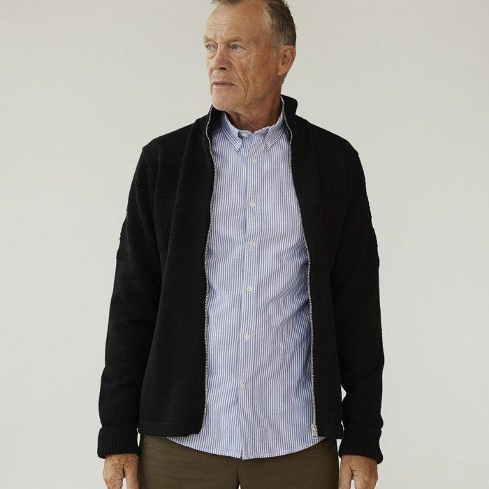 Klemens Wool Cardigan Black