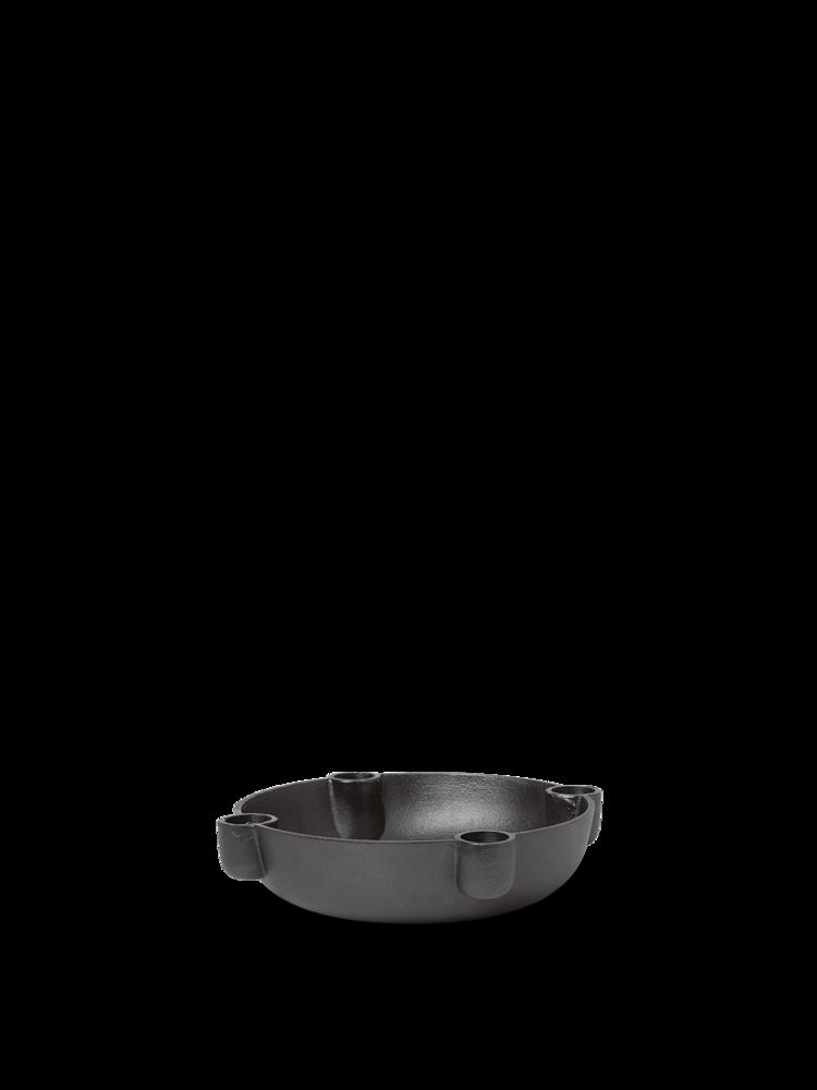 Bowl Kerzenständer Medium Blackened